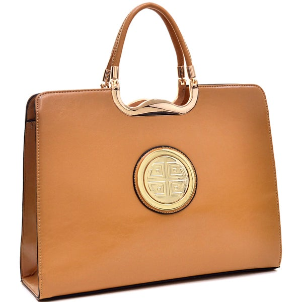 Dasein Faux Leather Rolled Handle Briefcase. Opens flyout.