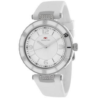 Seapro Women's SP6410 Seductive Round White Strap Watch