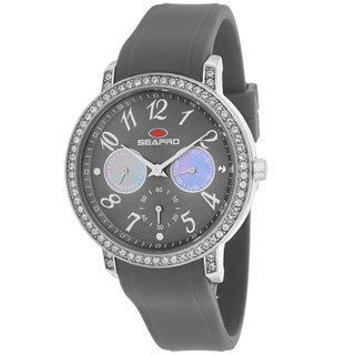 Seapro Women's SP4413 Swell Round Grey Strap Watch