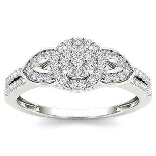 De Couer 10k White Gold 2/5ct TDW Diamond Engagement Ring