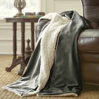 Amrapur Overseas Micro Mink/ Sherpa Throw