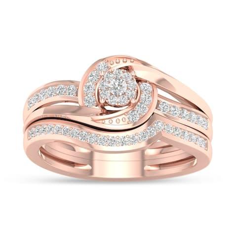 De Couer 10k Gold 1/3ct TDW Diamond Composite Bridal Sets