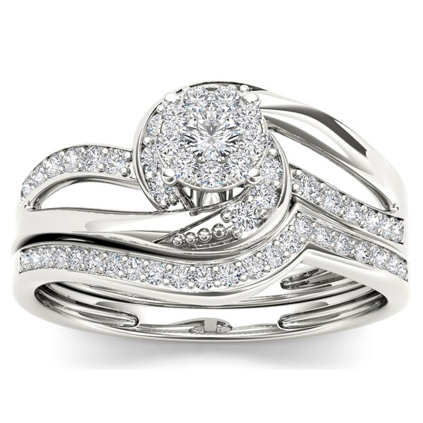 De Couer 10k Gold 1/3ct TDW Diamond Composite Bridal Sets