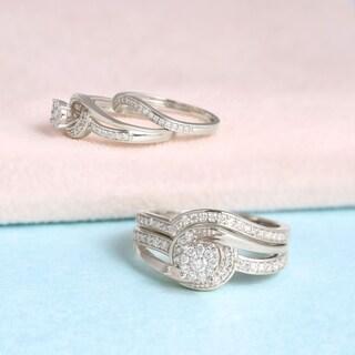 De Couer 10k Gold 1/3ct TDW Diamond Composite Bridal Sets|https://ak1.ostkcdn.com/images/products/9662953/P16844530.jpg?_ostk_perf_=percv&impolicy=medium