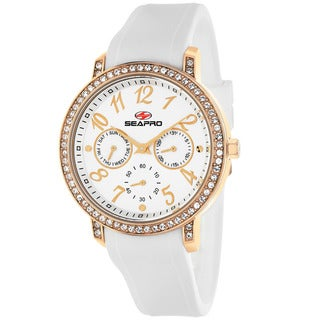 Seapro Women's SP4412 Swell Round White Strap Watch
