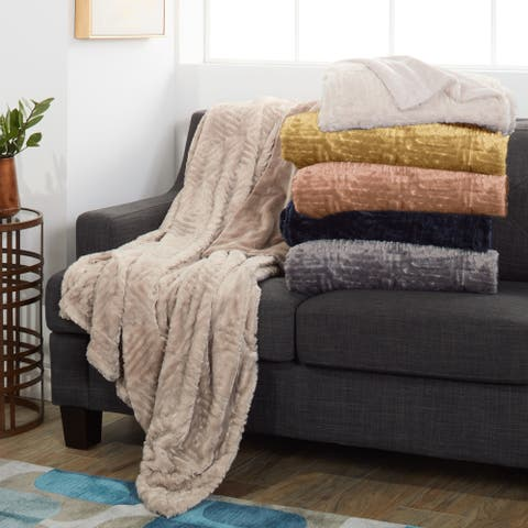 Modern Threads Plush and Cozy Faux Fur Throw