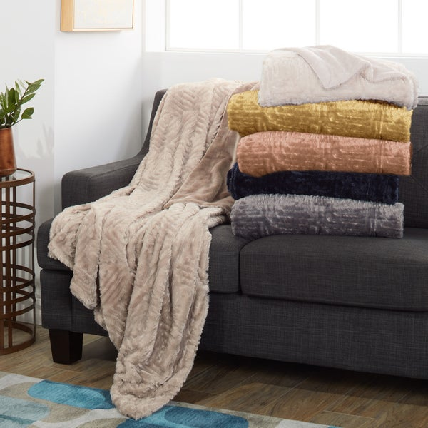 Modern Threads Plush and Cozy Faux Fur Throw. Opens flyout.