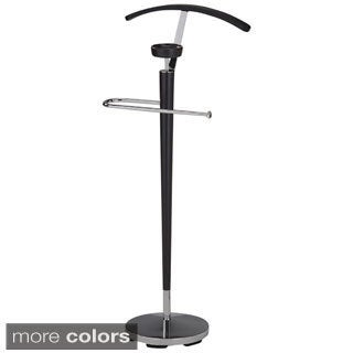 Novo Solid Wood/ Chrome Valet Stand