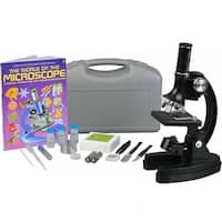 AmScope 300x-600x-1200x Educational Beginner Compound Microscope Kit