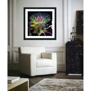 Studio Works Modern 'Black Bonobo Bell Flower' Framed Art Giclee Print (More options available)