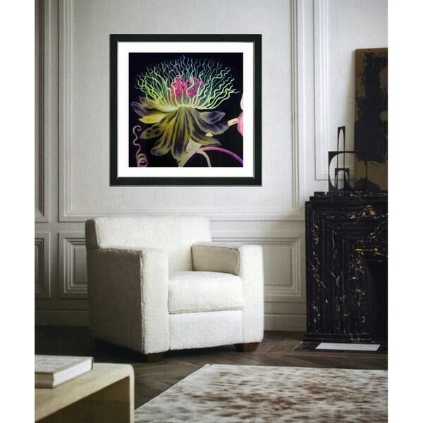 Studio Works Modern 'Black Bonobo Bell Flower' Framed Art Giclee Print