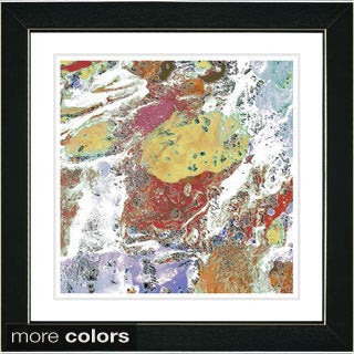 Studio Works Modern Zhee Singer 'White Pachigam' Framed Fine Art Print