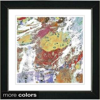 Studio Works Modern Zhee Singer 'White Pachigam' Framed Fine Art Print (More options available)