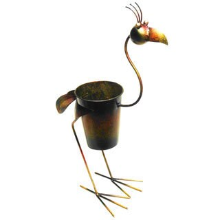 Iron Standing Rooster Planter Decor (Indonesia)