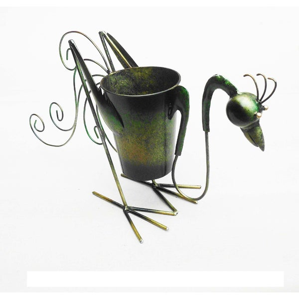 D-Art Collection Iron Rooster Planter Decor