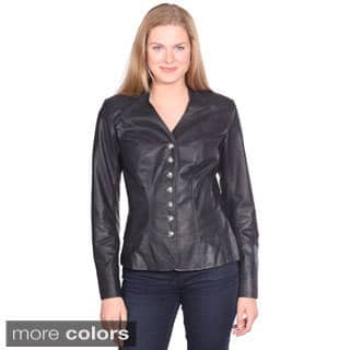 Christian Reed Women's May Leather Blazer|https://ak1.ostkcdn.com/images/products/9663068/P16844659.jpg?impolicy=medium