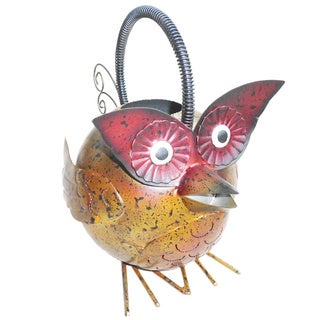 Handmade Iron Owl Watering Can (Indonesia)