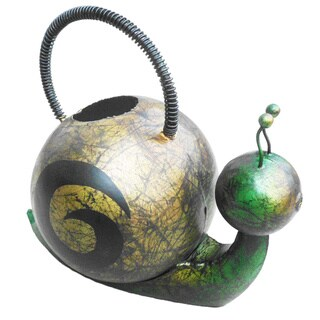 Handmade Iron Snail Watering Can (Indonesia)