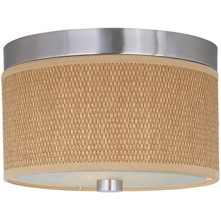 Elements Nickel 2-light Flush Mount