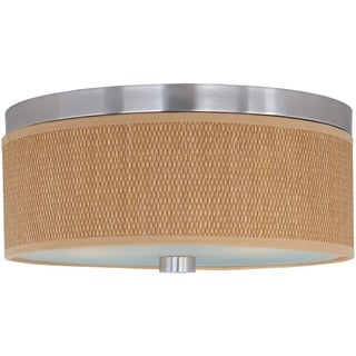 Elements Nickel 2-light Metal Flush Mount