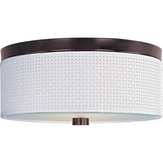 Elements Metal Bronze 3-light Flush Mount