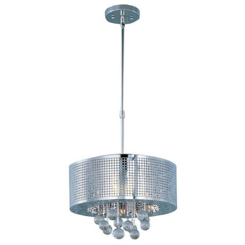 Illusion Chrome Steel 5-light Single Pendant - Illusion 5-Light
