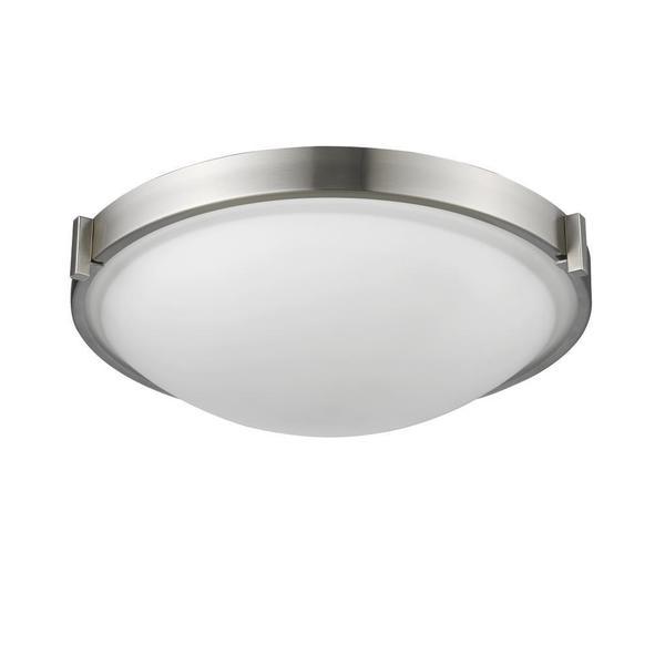 Chloe Lighting Transitional Domed 3-light Brushed Nickel Flush Mount Light