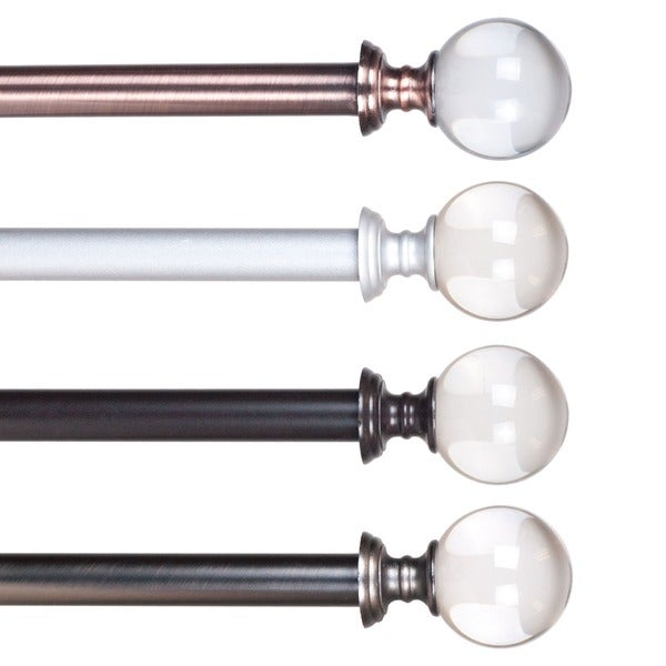 Lavish Home Crystal Ball Curtain Rod - 16844795 - Overstock.com ...