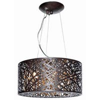 Inca Bronze Metal/ Steel 7-light Single Pendant