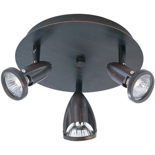 Agron Bronze Metal 3-light Flush Mount