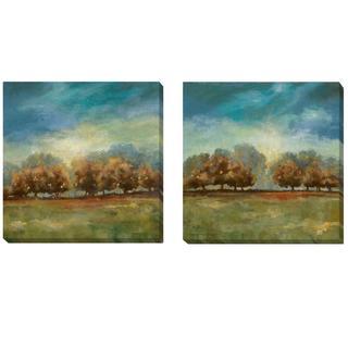 Carol Robinson 'Clearing Sky I and II' 2-piece Canvas Set - Multi