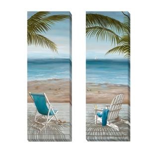 Nan 'Walk on the Beach I and II' 2-piece Canvas Set