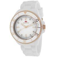 Seapro Women's  Bubble Round White Strap Watch
