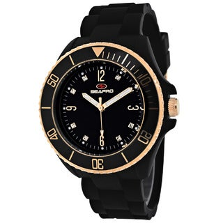 Seapro Women's SP7412 Bubble Round Black Strap Watch