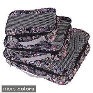 American Flyer Paisley Perfect 3-piece Packing Cube Set