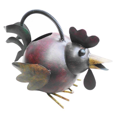Handmade Iron Rooster Watering Can (Indonesia)