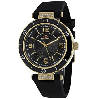 Seapro Women's SP6412 Seductive Round Black Strap Watch