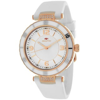 Seapro Women's SP6413 Seductive Round White Strap Watch