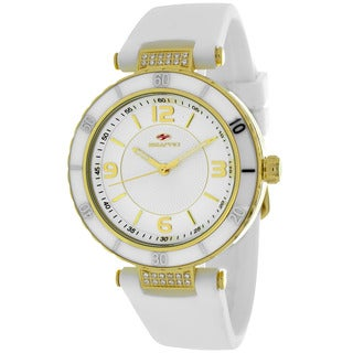 Seapro Women's SP6411 Seductive Round White Strap Watch