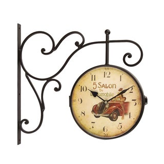 Adeco Retro Vintage Automobile Round Wall Clock
