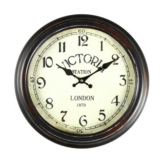 adeco black and brown antiquelook dial decorative vintage retro traditional wall hanging
