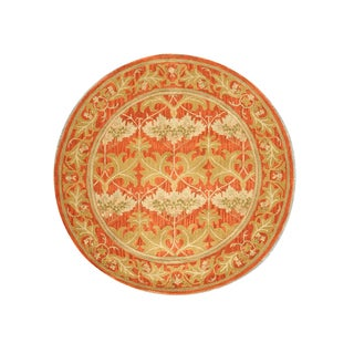 Hand-tufted Wool Rust Transitional Oriental Morris Rug (6' Round) - 6'