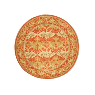 EORC Hand-tufted Wool Rust Morris Rug (6' Round)