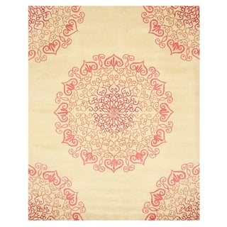 EORC Hand-tufted Wool Red Modern Naiin Rug (5' x 8')