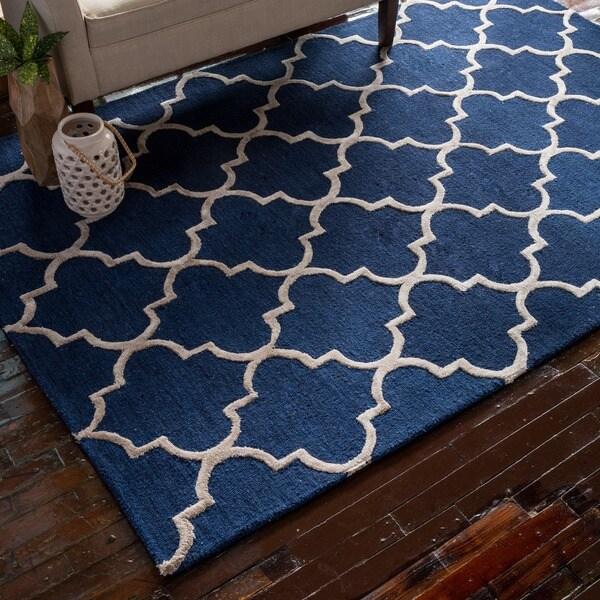 Hand-Hooked Carolyn Moroccan Trellis Rug (2'3 x 3'9) - 2'3 x 3'9