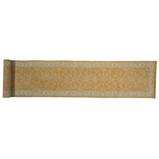 Oriental Stone-washed Hand-knotted Rug Runner (3' x 16')