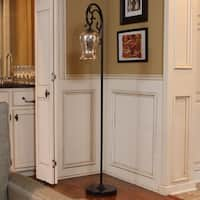 Copper Grove Armlin Textured Bronze Floor Lamp with Mercury Glass Globe