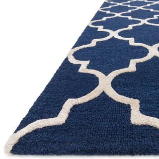 Hand-Hooked Carolyn Moroccan Trellis Rug (7'6 x 9'6)