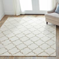 Hand-Hooked Contemporary Moroccan Trellis Rug - 9'3 x 13'