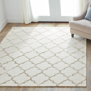 Hand-Hooked Contemporary Moroccan Trellis Rug - 9'3 x 13' (2 options available)